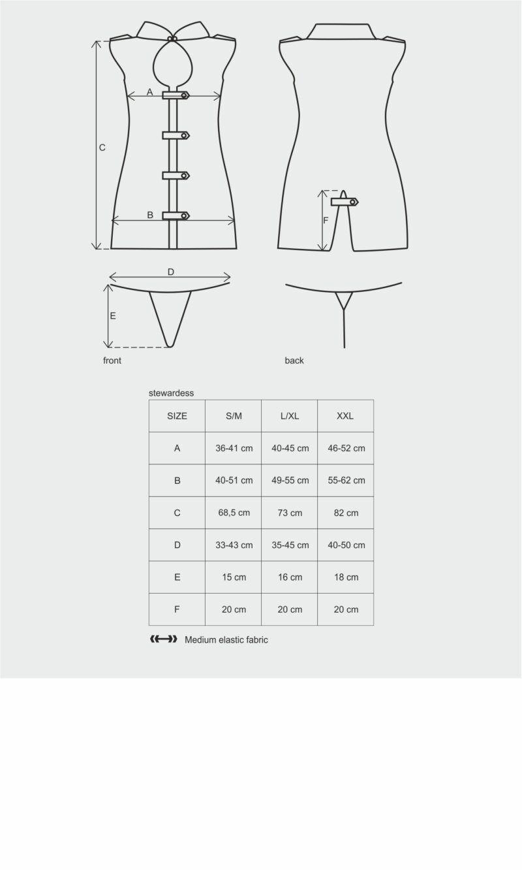 Stewardess kleit 3-osaline kostüüm