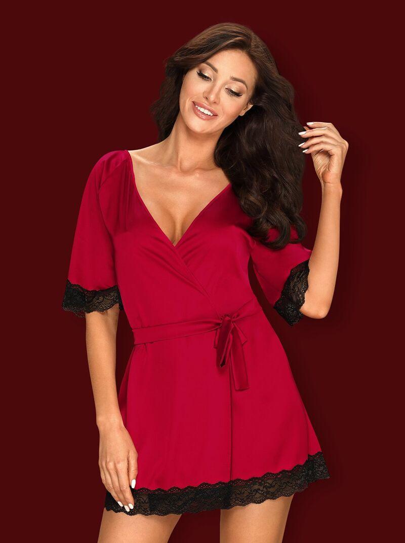 Sensuelia hommikumantel (punane)