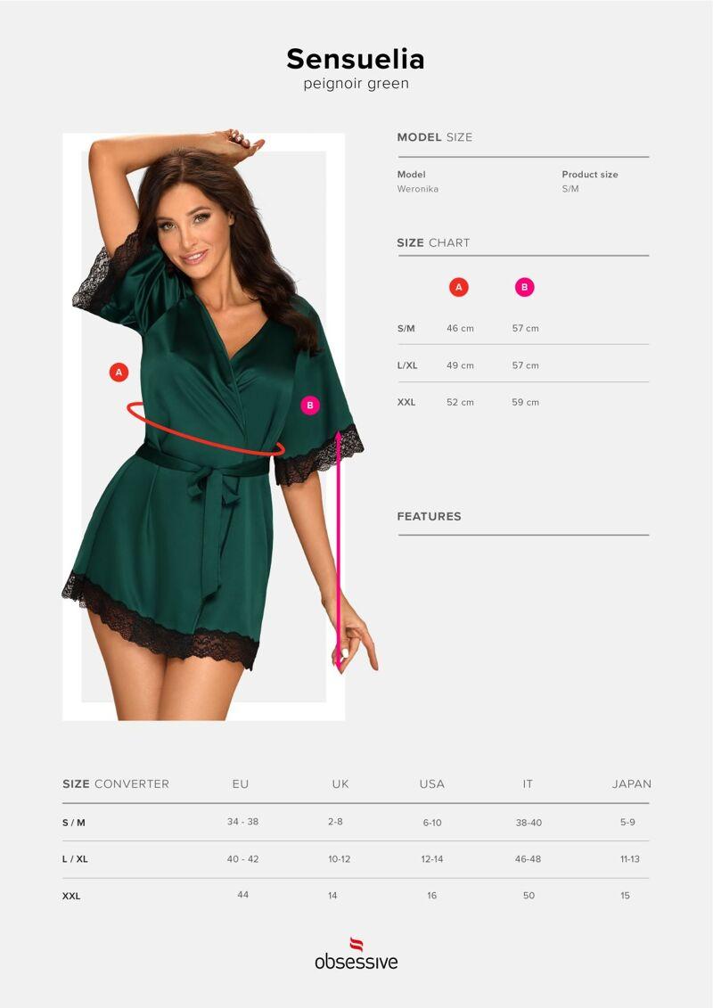 Sensuelia hommikumantel (roheline)